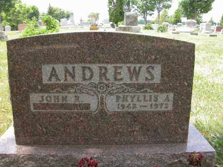 ANDREWS, PHYLLIS A. - Union County, Ohio   PHYLLIS A. ANDREWS - Ohio Gravestone Photos