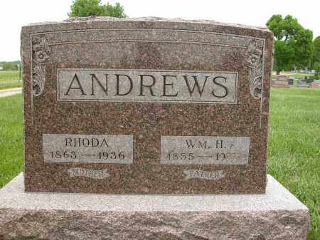 ANDREWS, RHODA - Union County, Ohio | RHODA ANDREWS - Ohio Gravestone Photos