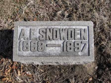 SNOWDEN, A.E. - Union County, Ohio   A.E. SNOWDEN - Ohio Gravestone Photos