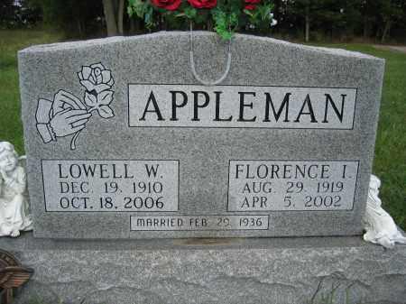 APPLEMAN, LOWELL W. - Union County, Ohio | LOWELL W. APPLEMAN - Ohio Gravestone Photos