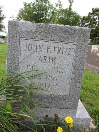ARTH, JOHN F. - Union County, Ohio | JOHN F. ARTH - Ohio Gravestone Photos