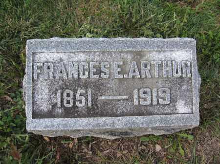 ARTHUR, FRANCES E. - Union County, Ohio   FRANCES E. ARTHUR - Ohio Gravestone Photos