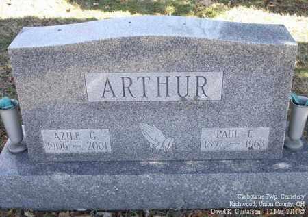 ARTHUR, AZILE G. - Union County, Ohio   AZILE G. ARTHUR - Ohio Gravestone Photos