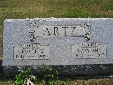 ARTZ, MARY ANN - Union County, Ohio | MARY ANN ARTZ - Ohio Gravestone Photos
