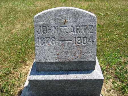 ARTZ, JOHN T. - Union County, Ohio | JOHN T. ARTZ - Ohio Gravestone Photos
