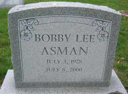 ASMAN, BOBBY LEE - Union County, Ohio | BOBBY LEE ASMAN - Ohio Gravestone Photos