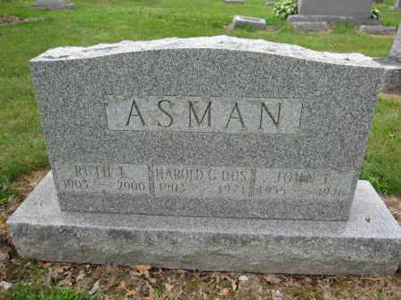 ASMAN, RUTH L. - Union County, Ohio | RUTH L. ASMAN - Ohio Gravestone Photos