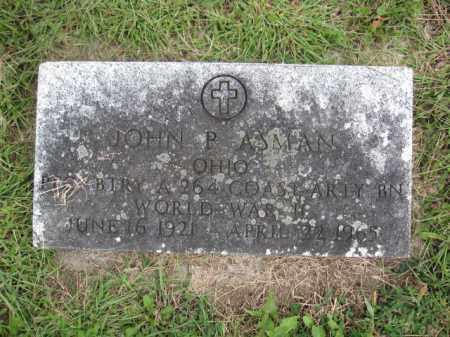 ASMAN, JOHN P. - Union County, Ohio | JOHN P. ASMAN - Ohio Gravestone Photos