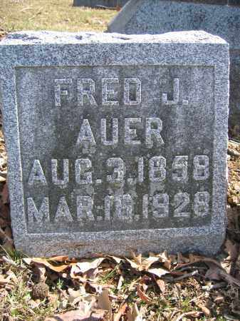 AUER, FRED J. - Union County, Ohio | FRED J. AUER - Ohio Gravestone Photos