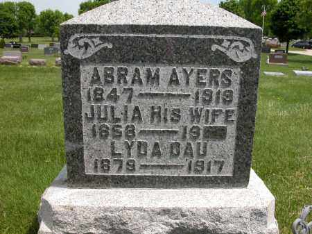 AYERS, JULIA - Union County, Ohio | JULIA AYERS - Ohio Gravestone Photos
