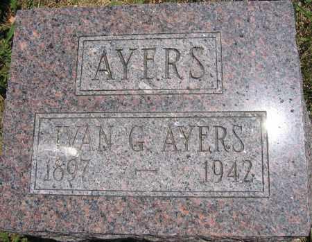 AYERS, IVAN G. - Union County, Ohio   IVAN G. AYERS - Ohio Gravestone Photos