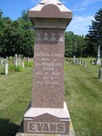 BABCOKE, LOUISA EVANS - Union County, Ohio | LOUISA EVANS BABCOKE - Ohio Gravestone Photos