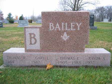 BAILEY, RAYDA A. - Union County, Ohio | RAYDA A. BAILEY - Ohio Gravestone Photos