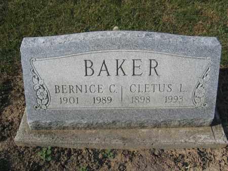 BAKER, CLETUS L. - Union County, Ohio | CLETUS L. BAKER - Ohio Gravestone Photos