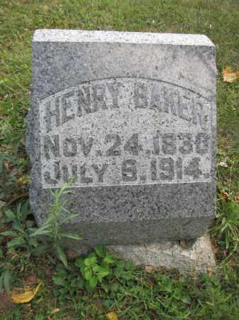 BAKER, HENRY - Union County, Ohio   HENRY BAKER - Ohio Gravestone Photos