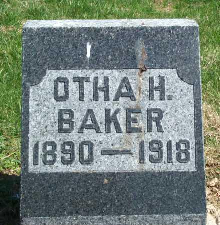 BAKER, OTHA H. - Union County, Ohio   OTHA H. BAKER - Ohio Gravestone Photos