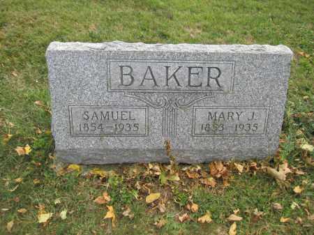 BAKER, MARY J. - Union County, Ohio | MARY J. BAKER - Ohio Gravestone Photos