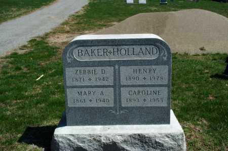 BAKER, ZEBBIE D. - Union County, Ohio | ZEBBIE D. BAKER - Ohio Gravestone Photos