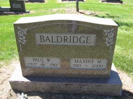 BALDRIDGE, PAUL W. - Union County, Ohio   PAUL W. BALDRIDGE - Ohio Gravestone Photos