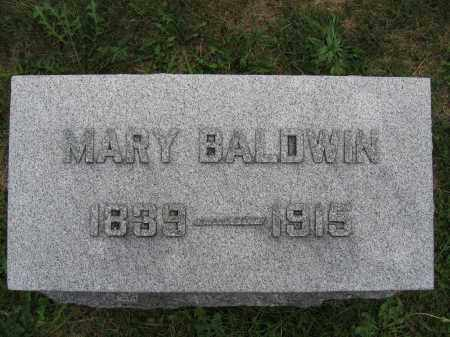 BALDWIN, MARY - Union County, Ohio | MARY BALDWIN - Ohio Gravestone Photos