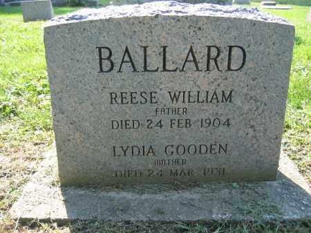 BALLARD, REESE WILLIAM - Union County, Ohio   REESE WILLIAM BALLARD - Ohio Gravestone Photos