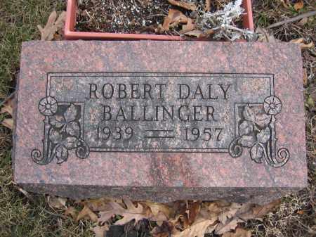 BALLINGER, ROBERT DALY - Union County, Ohio | ROBERT DALY BALLINGER - Ohio Gravestone Photos