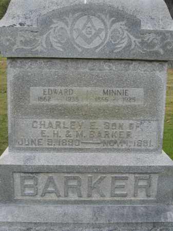 BARKER, MINNIE - Union County, Ohio | MINNIE BARKER - Ohio Gravestone Photos