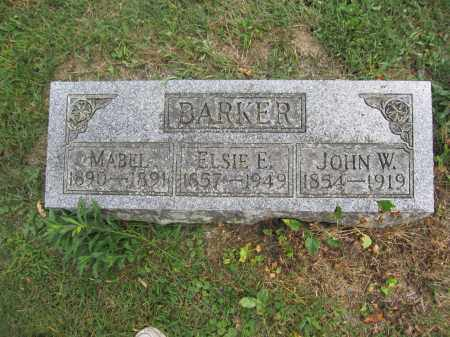 BARKER, JOHN W. - Union County, Ohio | JOHN W. BARKER - Ohio Gravestone Photos
