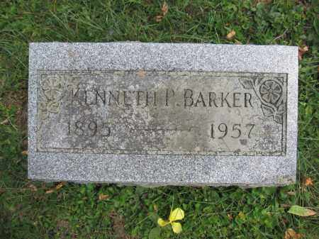 BARKER, KENNETH P. - Union County, Ohio   KENNETH P. BARKER - Ohio Gravestone Photos