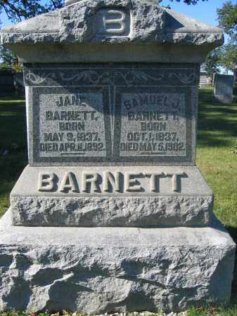 BARNETT, JANE - Union County, Ohio | JANE BARNETT - Ohio Gravestone Photos