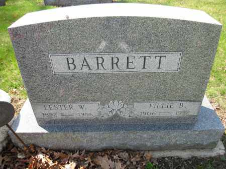 BARRETT, LESTER W. - Union County, Ohio | LESTER W. BARRETT - Ohio Gravestone Photos