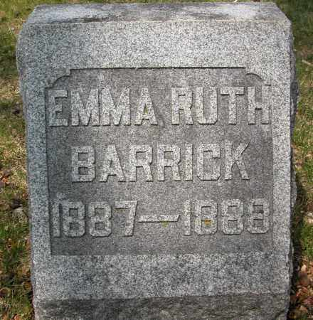 BARRICK, EMMA  RUTH - Union County, Ohio | EMMA  RUTH BARRICK - Ohio Gravestone Photos