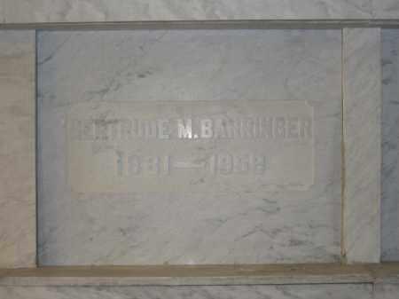BARRINGER, GERTRUDE M. - Union County, Ohio | GERTRUDE M. BARRINGER - Ohio Gravestone Photos