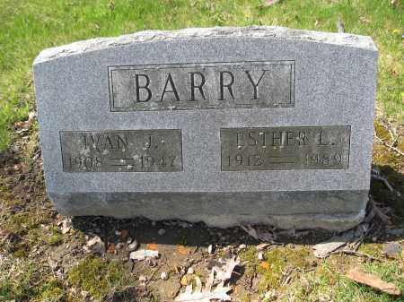 BARRY, IVAN J. - Union County, Ohio | IVAN J. BARRY - Ohio Gravestone Photos