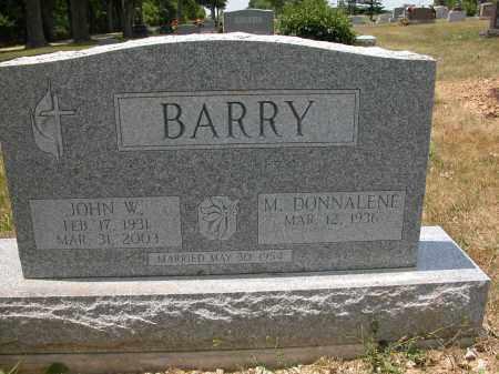 BARRY, M. DONNALENE - Union County, Ohio | M. DONNALENE BARRY - Ohio Gravestone Photos