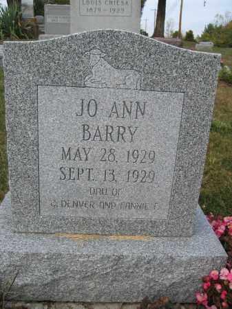 BARRY, JO ANN - Union County, Ohio | JO ANN BARRY - Ohio Gravestone Photos
