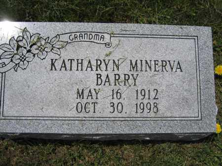 BARRY, KATHARYN MINERVA - Union County, Ohio   KATHARYN MINERVA BARRY - Ohio Gravestone Photos