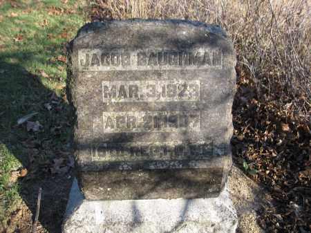 BAUGHMAN, JACOB - Union County, Ohio | JACOB BAUGHMAN - Ohio Gravestone Photos