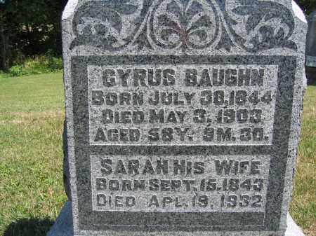 BAUGHN, CYRUS - Union County, Ohio | CYRUS BAUGHN - Ohio Gravestone Photos
