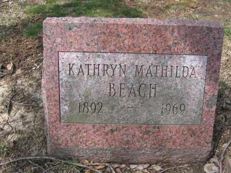 BEACH, KATHRYN MATILDA - Union County, Ohio   KATHRYN MATILDA BEACH - Ohio Gravestone Photos
