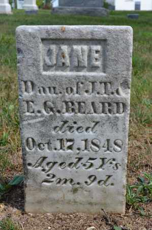 BEARD, JANE - Union County, Ohio | JANE BEARD - Ohio Gravestone Photos