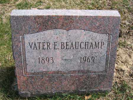 BEAUCHAMP, VATER E. - Union County, Ohio   VATER E. BEAUCHAMP - Ohio Gravestone Photos