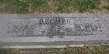 BECHER, MARGERY H. - Union County, Ohio | MARGERY H. BECHER - Ohio Gravestone Photos