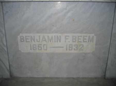BEEM, BENJAMIN F. - Union County, Ohio | BENJAMIN F. BEEM - Ohio Gravestone Photos