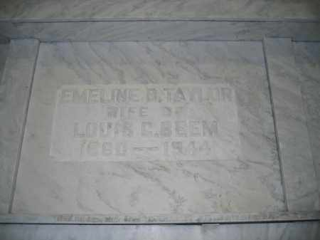 BEEM, EMELINE B. TAYLOR - Union County, Ohio   EMELINE B. TAYLOR BEEM - Ohio Gravestone Photos
