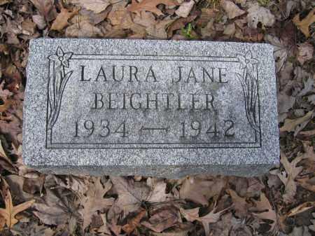 BEIGHTLER, LAURA JANE - Union County, Ohio | LAURA JANE BEIGHTLER - Ohio Gravestone Photos
