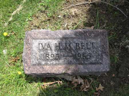 BELT, IVA H.M. - Union County, Ohio   IVA H.M. BELT - Ohio Gravestone Photos
