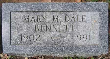 BENNETT, MARY M. DALE - Union County, Ohio | MARY M. DALE BENNETT - Ohio Gravestone Photos
