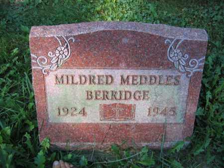 BERRIDGE, MILDRED MEDDLES - Union County, Ohio   MILDRED MEDDLES BERRIDGE - Ohio Gravestone Photos