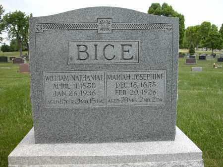 BICE, WILLIAM NATHANIAL - Union County, Ohio | WILLIAM NATHANIAL BICE - Ohio Gravestone Photos